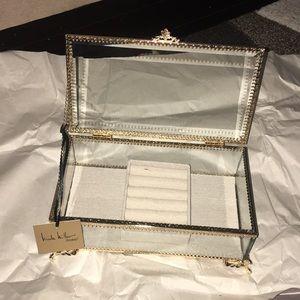 Nicole Miller gold jewelry box